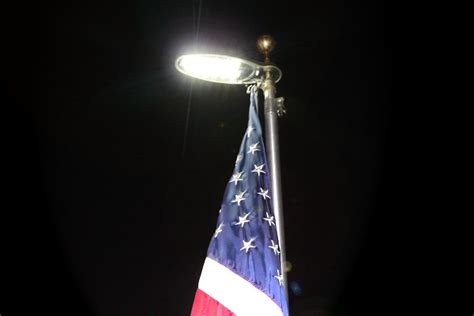 flagpole lighting uncommon usa