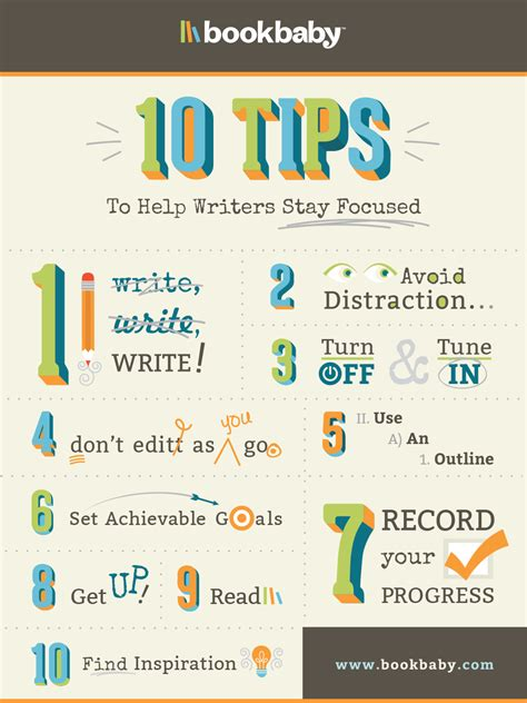 10 Tips To Help Writers Stay Focused  Bookbaby Blog