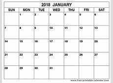 january 2018 calendar printable Print Calendars