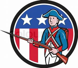 Illustration of an American revolutionary soldier ...
