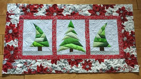 free quilt pattern trio christmas tree quilt