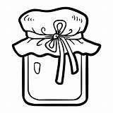 Honey Jar Coloring sketch template