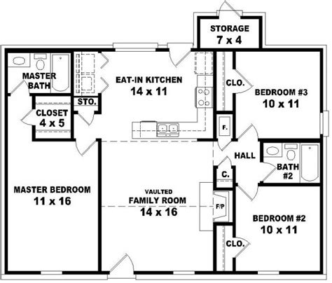 house plans with and bathrooms 653624 affordable 3 bedroom 2 bath house plan design