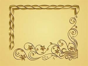 Golden Vector Frame | free vectors | UI Download