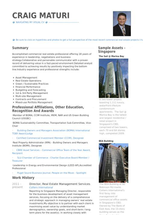 property management resume profile real estate resume sles visualcv resume sles database