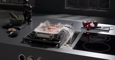 hotte aspirante professionnelle cuisine la hotte intégrée à la table de cuisson un système innovant