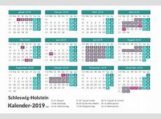 FERIEN SchleswigHolstein 2019 Ferienkalender & Übersicht