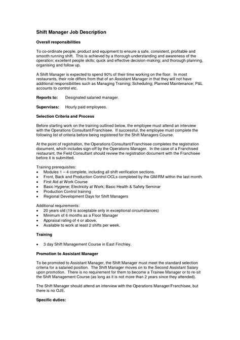 Pizza Shift Manager Resume by Resume For Pizza Hut Manager