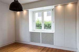 Meuble Cache Tv : biblioth que meuble tv cache radiateur sur mesure ~ Premium-room.com Idées de Décoration