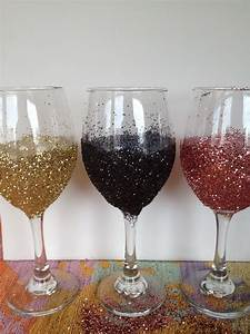 My, Simple, Obsessions, Diy, Glitter, Wine, Glasses