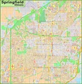 Large detailed map of Springfield (Illinois)