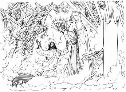 Coloring Jesus Pages Revelation Bible Revelations Daniel
