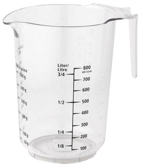 Measuring jug 1 L with non slip bottom   INOX RVS FOR FOOD