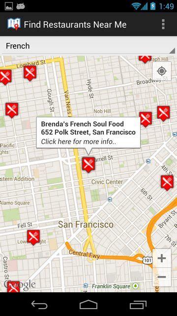 freemaps local find restaurants