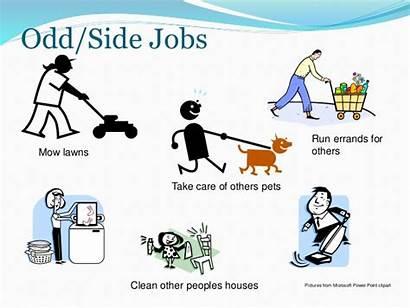 Money Ways Odd Jobs Clipart Care Others