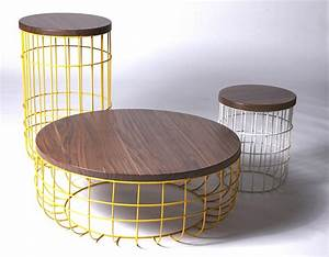 wire high side table by dare studio design sean dare With round wire coffee table