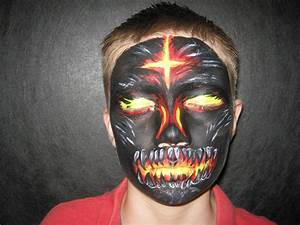 Fire Demon ( Wolfe Bros) - Face Painting by Jenn
