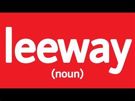 Lee way odf definition