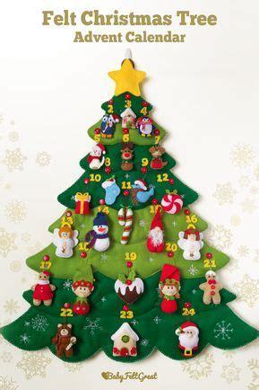 felt christmas tree advent calendar  handmade stuffed etsy christmas tree advent calendar