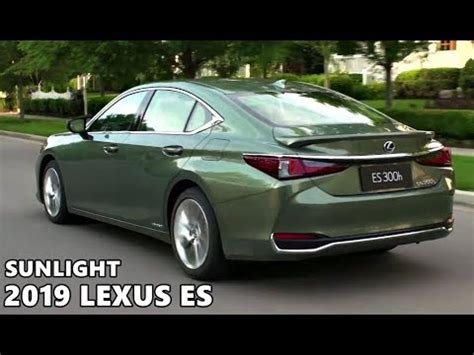 lexus es  sunlight green youtube