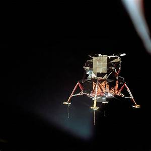The Apollo 11 lunar module Eagle is seen from the Columbia ...