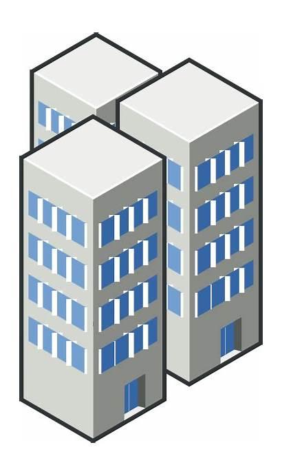 Clipart Condo Condominium Condos Clip Building Buildings