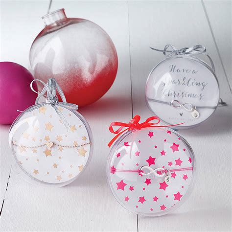 personalised jewellery christmas gift bauble by bloom