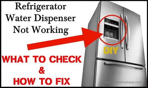 Kitchenaid Refrigerator Leaking Water From Dispenser by Refrigerator Water Dispenser Not Working How To Fix