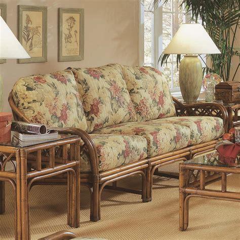 braxton culler edgewater tropical rattan sofa with