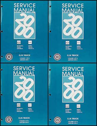 automotive service manuals 2000 chevrolet 2500 spare parts catalogs 2000 chevy gmc repair shop manual original set silverado sierra tahoe suburban yukon