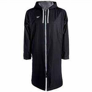 Speedo Unisex Swimming Deck Coat Black Swimming Parka