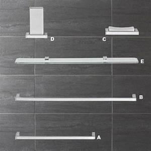 Tablette Pour Salle De Bain : accessoires de salle de bains domino tablette en verre salle de bains ~ Melissatoandfro.com Idées de Décoration