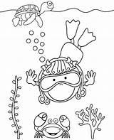 Coloring Sea Diver Sheet Topcoloringpages Animals sketch template