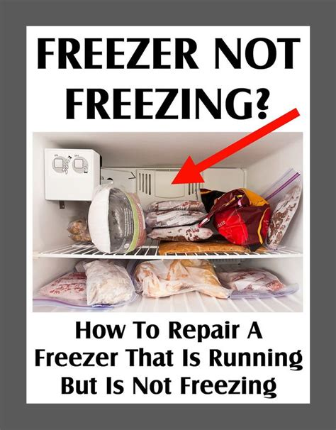 freezer not freezing how to repair a freezer that is running but is not cold enough