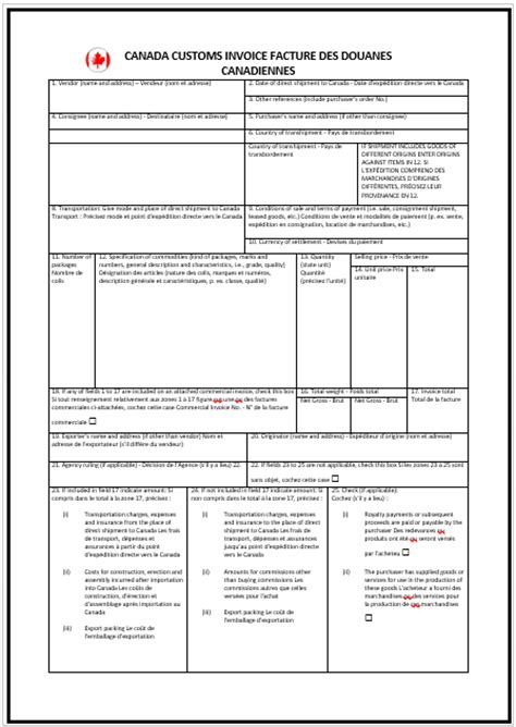 canadian invoice template  invoice templates