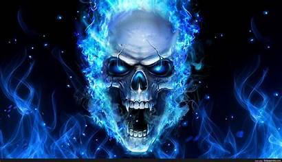 Skull Fire Wallpapers Background Artwork 5d
