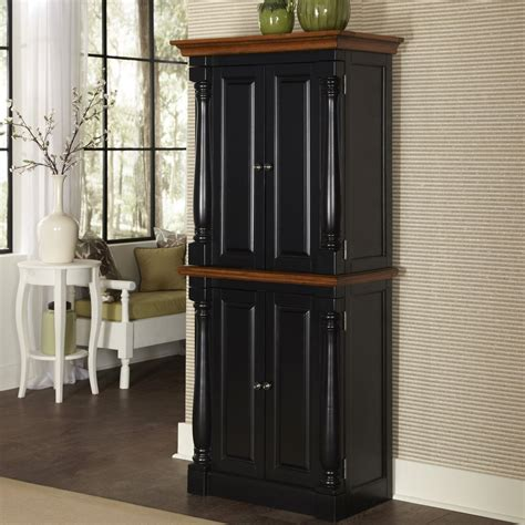 kitchen pantry furniture home styles monarch black oak kitchen pantry at hayneedle