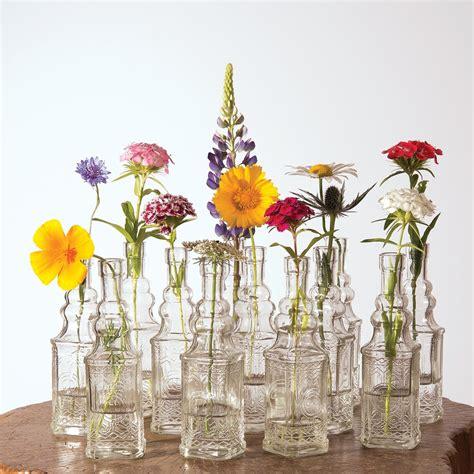 Luna Bazaar Small Vintage Glass Bottle Set 65 Inch