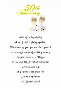 wedding invitation wording wedding invitation wording With words for 50th wedding anniversary card
