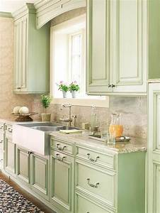 5 gorgeous green kitchens enpundit With kitchen colors with white cabinets with seafoam green wall art
