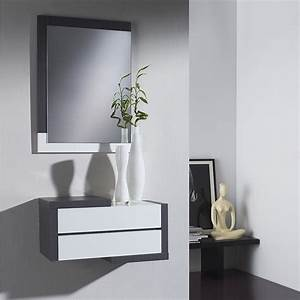 Meuble D Entrée Blanc : meuble d entree moderne modesto zd1 meu dentr ~ Teatrodelosmanantiales.com Idées de Décoration