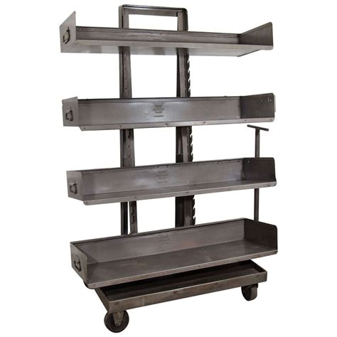 Industrial Bookcase With Wheels At 1stdibs