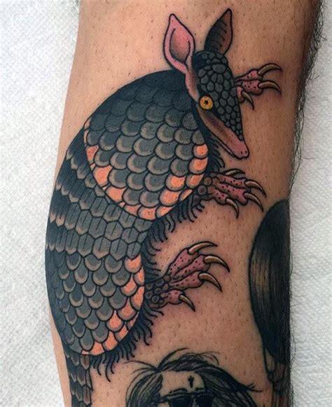 armadillo tattoo designs  men armor shell ink ideas