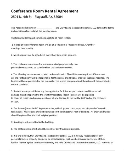 room rental agreement   word  documents