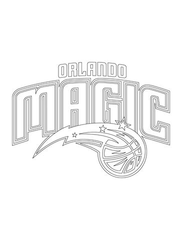 orlando magic logo coloring page  printable coloring