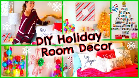 diy holiday room decor fun christmas decorations for your room youtube