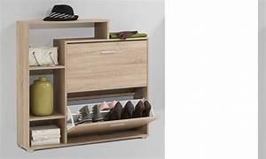 Meuble D Entrée Chaussures : meuble d 39 entr e range chaussures couleur ch ne ou blanc serti ~ Farleysfitness.com Idées de Décoration