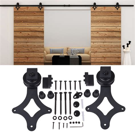 barn door roller kit 5 16ft rustic sliding barn door hardware wood closet