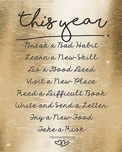 New Years Resol... Year End Resolution Quotes
