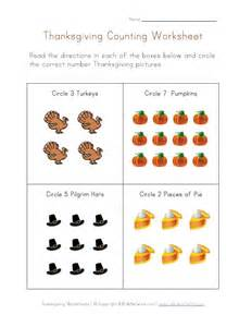 thanksgiving worksheet counting to eight